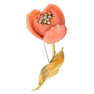 cash for van cleef & arpels coral brooch los angeles
